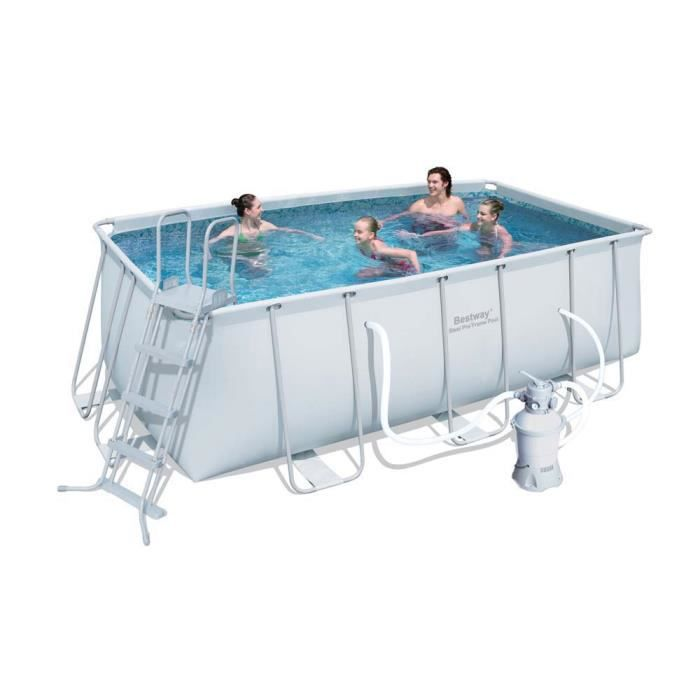 Piscine tubulaire rectangle m achat for Piscine tubulaire 1 22