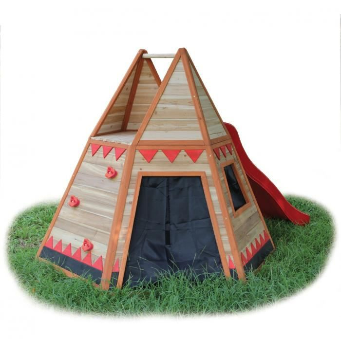 tente d 39 indien pour enfants avec toboggan tipi achat. Black Bedroom Furniture Sets. Home Design Ideas