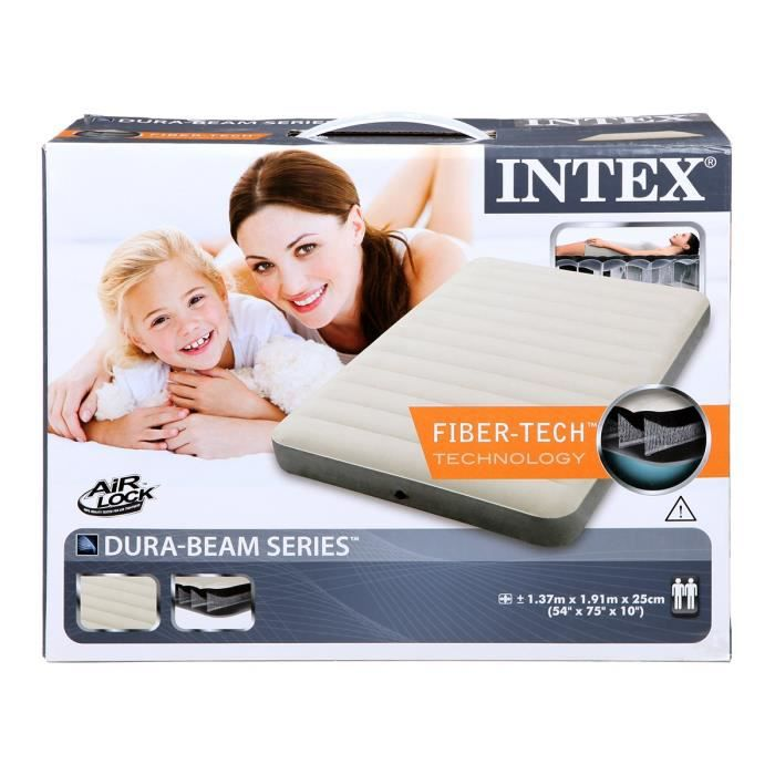 Matelas gonflable intex downy fiber tech 2 places achat vente matelas c - Matelas gonflable cdiscount ...