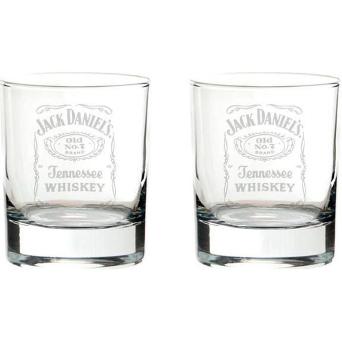 VERRE A DIGESTIF 2 x lunettes de mixer bourbon Jack Daniel's