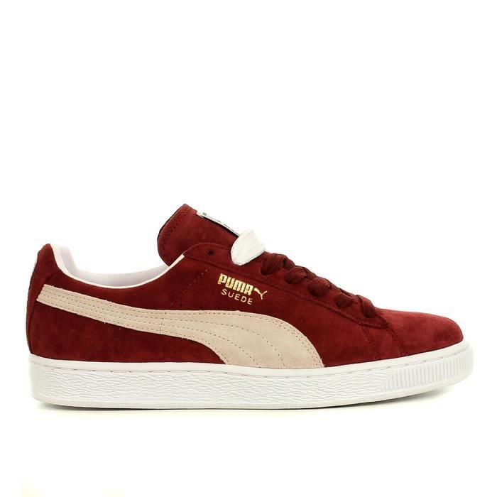 chaussure puma bordeaux