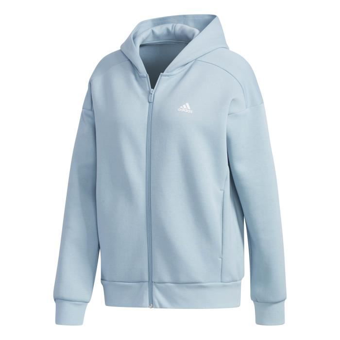 Sweat à capuche femme adidas Sport 2 Street Knit ADIDAS