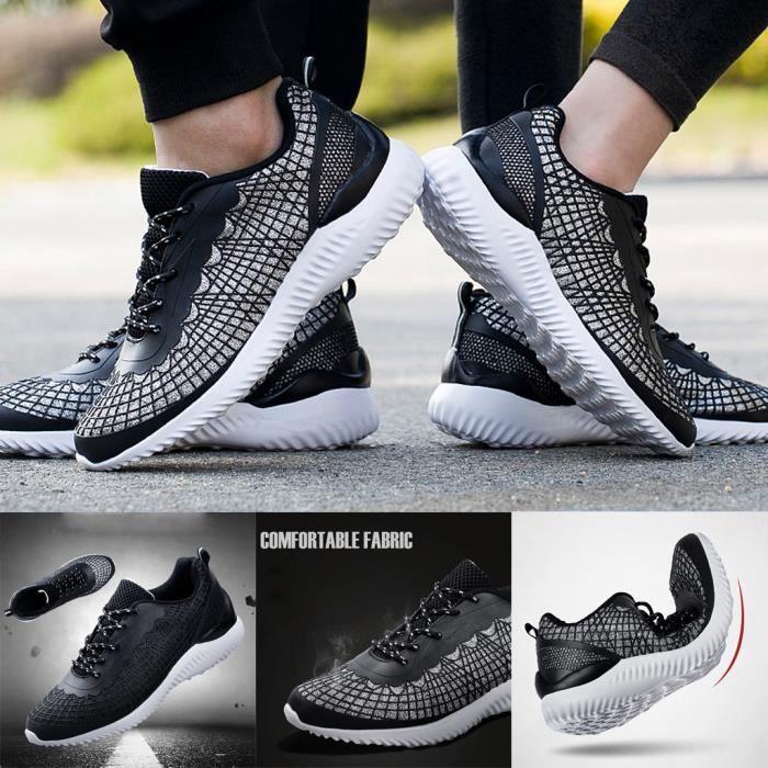 Femme Toile Chaussures à lacets Casual couple Respirant Bas Haut Plat Baskets Chaussures