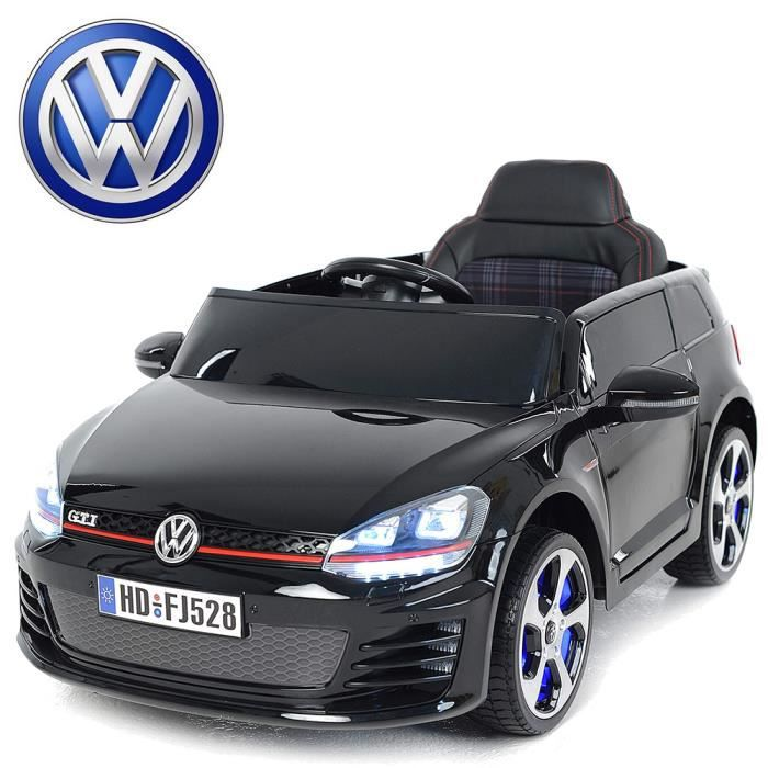 voiture lectrique quad enfant golf gti 12v si ge cuir roue eva noir achat vente voiture. Black Bedroom Furniture Sets. Home Design Ideas