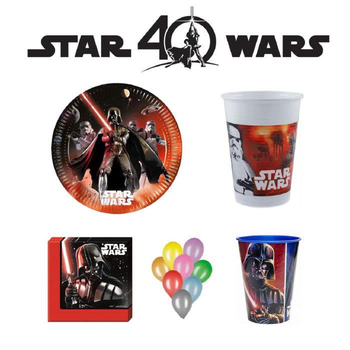 Kit Decoration Anniversaire Star Wars 8 Achat Vente Set Vaisselle Jetable Cdiscount