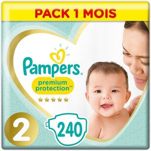 COUCHE PAMPERS Premium Protection New Baby Taille 2 - 4 à