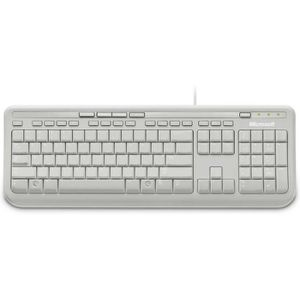 CLAVIER D'ORDINATEUR Microsoft Clavier filaire Wired Keyboard 600 Blanc