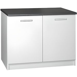 ELEMENTS BAS Meuble cuisine bas 120 cm 2 portes TARA blanc