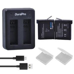 BATTERIE APPAREIL PHOTO 2pcs batterie de l'appareil photo 800mA + chargeur
