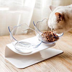 GAMELLE - ÉCUELLE Double gamelle chat chien plastique, Gamelle pour