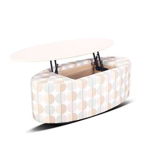Table basse en tissu pure design pratiko beige achat for Table basse laquee beige