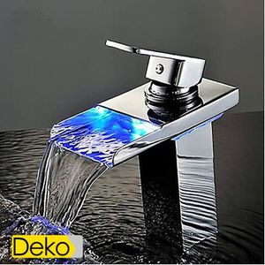 ROBINETTERIE SDB iDeko® Robinet Mitigeur lavabo LED salle de bains