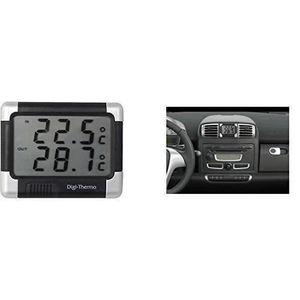 THERMOMÈTRE - BAROMÈTRE Thermometre Intérieur/Extérieur Noir/Argent Auto V