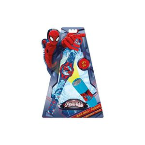 PACK MONTRE Set Montre digital & Lampe de poche Spiderman Marv
