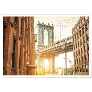 AFFICHE - POSTER Panorama® Poster Brooklyn Bridge NY 100 x 70 cm -