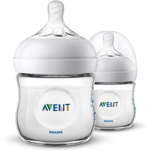 BIBERON  PHILIPS AVENT Lot de 2 biberons Natural - 125 ml