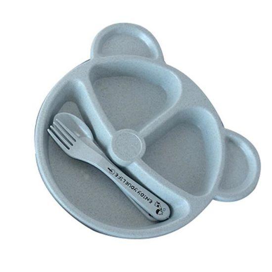 Hotaden Vaisselle Nourriture pour b/éb/é en Bois Assiette Cartoon Lapin Forme Enfants Manger Bol cuill/ère Set Enfants Art de la Table Vaisselle Assiette de Fruits Plateau