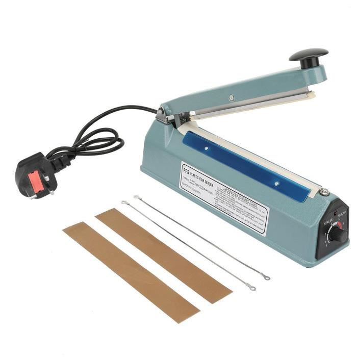 Scelleuse à impulsion scellant la chaleur manuel machine de scelleur sac plus proche emballage outil kit 220V 8in métal-DUO