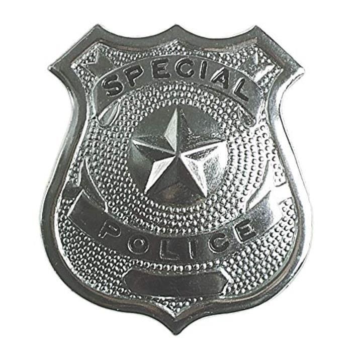 Docteur MYIVU Insigne de police 332A, argent, taille standard