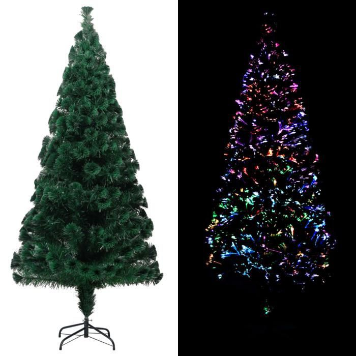 Sapin de Noël artificiel avec support Vert 240 cm PVC -RAI