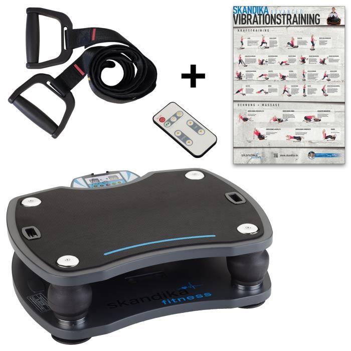 skandika Home Vibration Plate 500 Plateforme vibrante oscillante de salaon avec télécommande -Noire