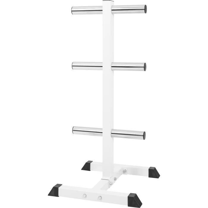 Rack de rangement pour poids disques olympique 51mm, blanc