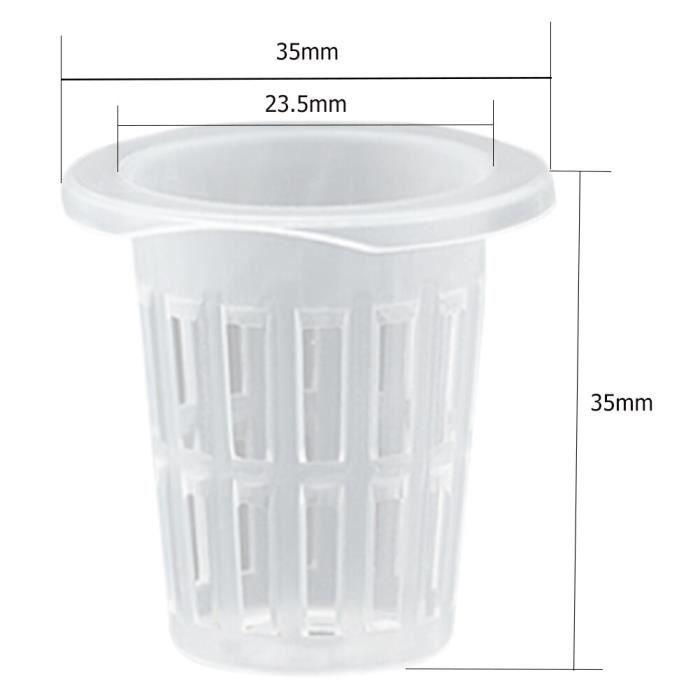 50 pièces hydroponique colonisation maille Pot Net tasse panier hydroponique aeroponique plantation cultiver Clone [6B415C3]