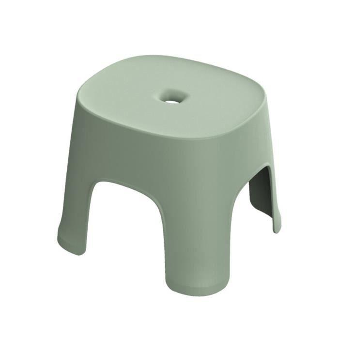 Tabouret de salle de bain en plastique épais, carré bas pour adultes et enfants, sièges de douche [8D49C7B]