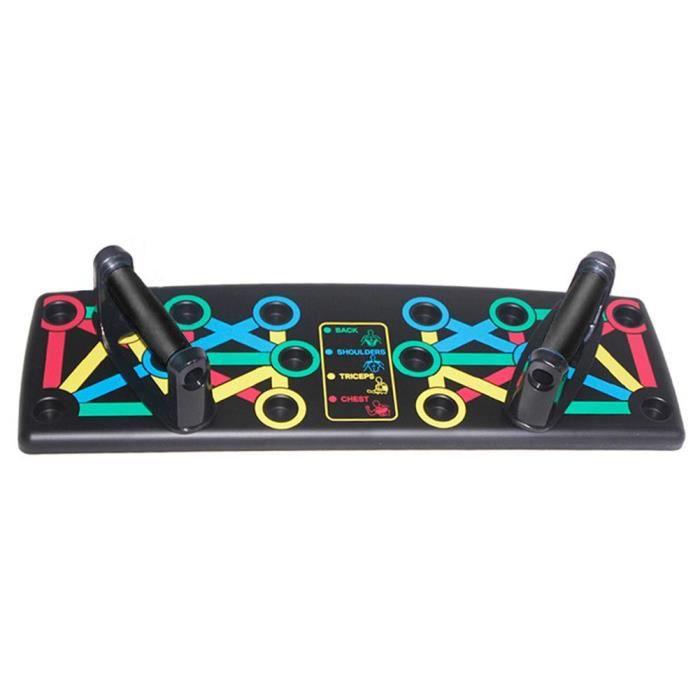 barre pour traction -Planche à pousser 14-en-1 Paralettes salle de sport à la maison supports à ...- Modèle: Black - ZOAMFWZDA08843