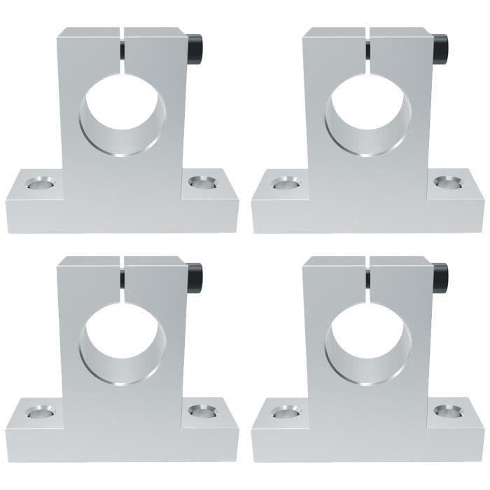 4 pcs Support D 'arbre En Métal Durable Guide Accessoire Roulement Axe Fixe Arbre pour Imprimante 3D CAMERA IP