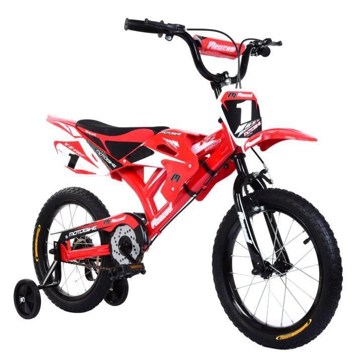 LIBERTE Vélo Motobike 16- - Enfant garçon 4/7 ans - Rouge