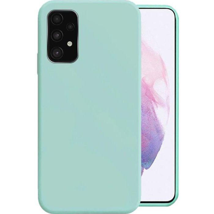 Coque Samsung A32 4g Coque Samsung Galaxy A32 5g Silicone LiquiAntichoc Anti-Empreintes Digitales Protection Case (Bleu ClairH