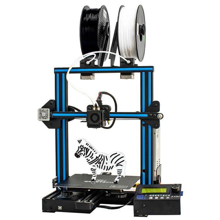 Imprimante 3D Geeetech A10m Mix color 220 x 220 x 260mm Assemblage rapide et facile