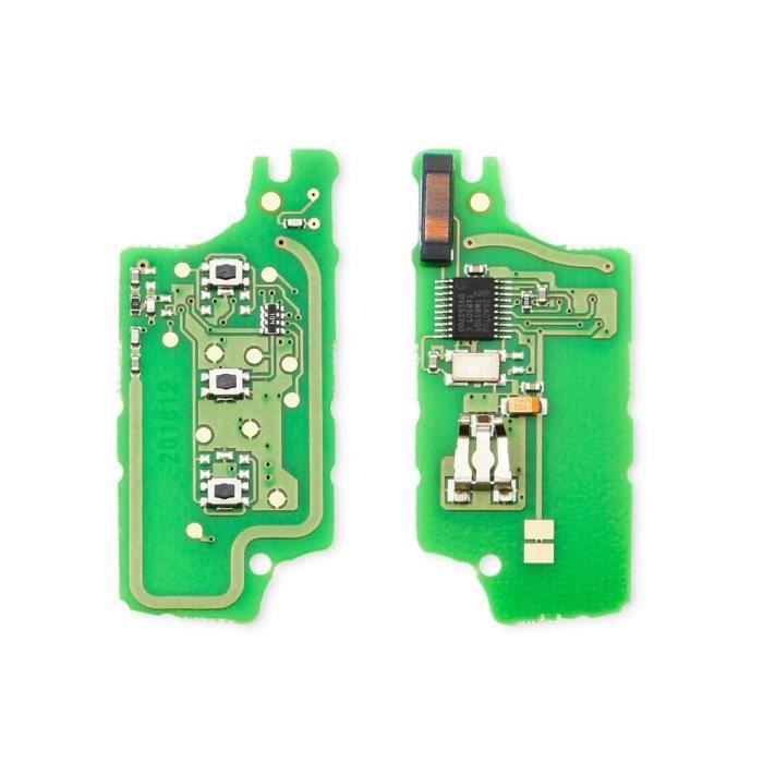 Coque clé,Dandkey Clé À Distance Circuit imprimé Pour Peugeot 207 307 308 407 607 807 Pour Citroen C2 C3 C4 - Type 3BT CE0536 - FSK