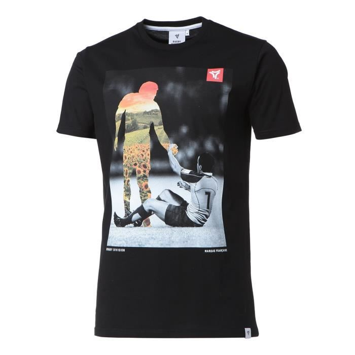 RUGBY DIVISION T-shirt col rond Fairplay - Homme - Noir