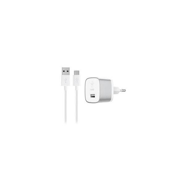 BELKIN Quick 3.0 Home Chargeur - Avec câble USB-C vers A - Argent