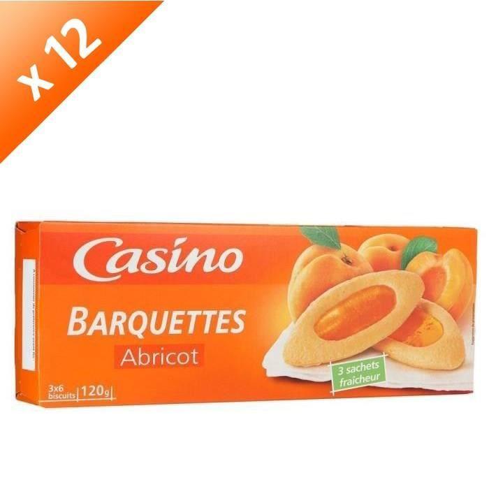 [LOT DE 12] CASINO Barquette à l'abricot - 120 g