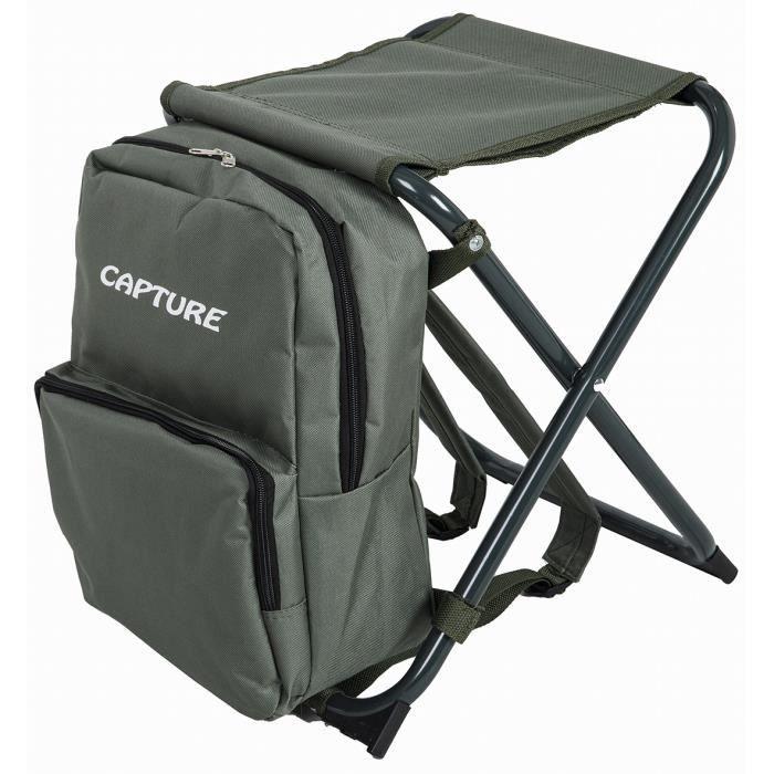 Capture Outdoor, Siège pliant -Traveller OX-37- avec son sac à dos intégré. Bretelles de transport réglables et moussées, …