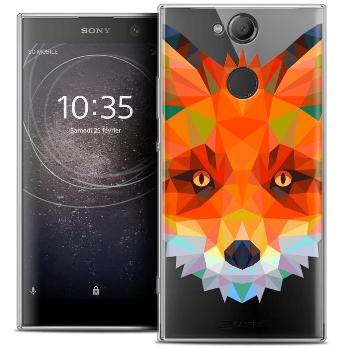Coque Gel Sony Xperia XA2 (5.2 ) Extra Fine Polygon Animals - Renard