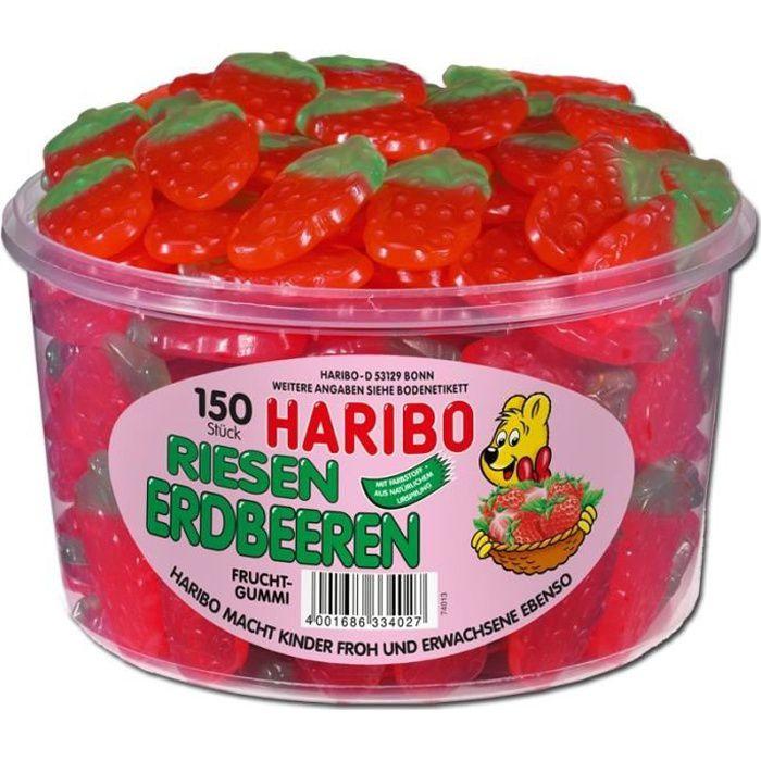 Haribo fraises géantes, gelée de fruits, 150 pièce