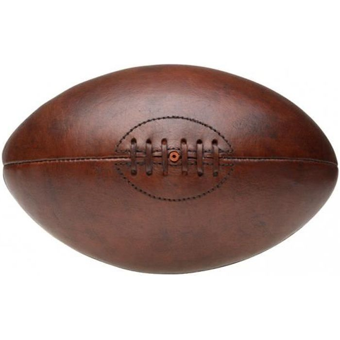 Ballon de rugby Vintage Marron Façon Cuir D19 x H30 cm