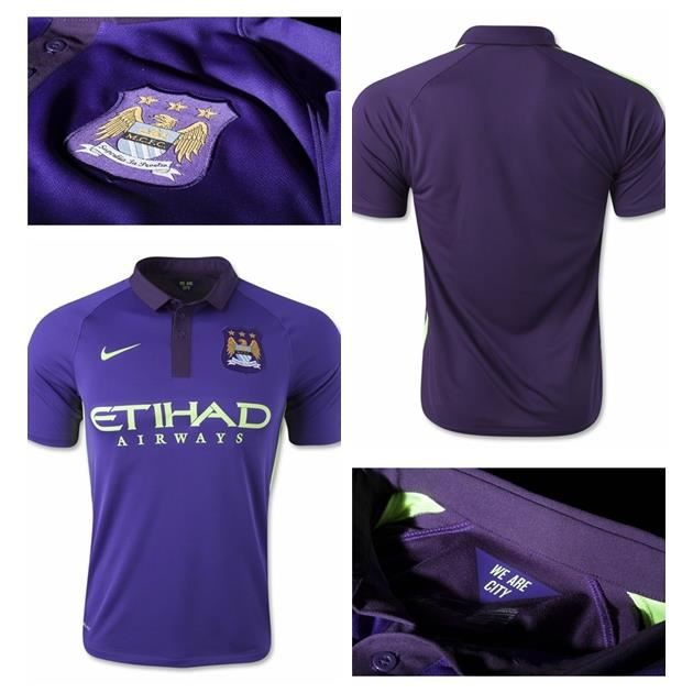 Maillot Nike Violet Manchester City 2014 Taille M