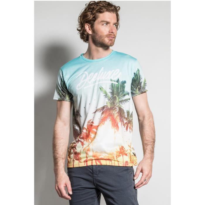 DEELUXE T-shirt motif palmier VIVID Palmtree