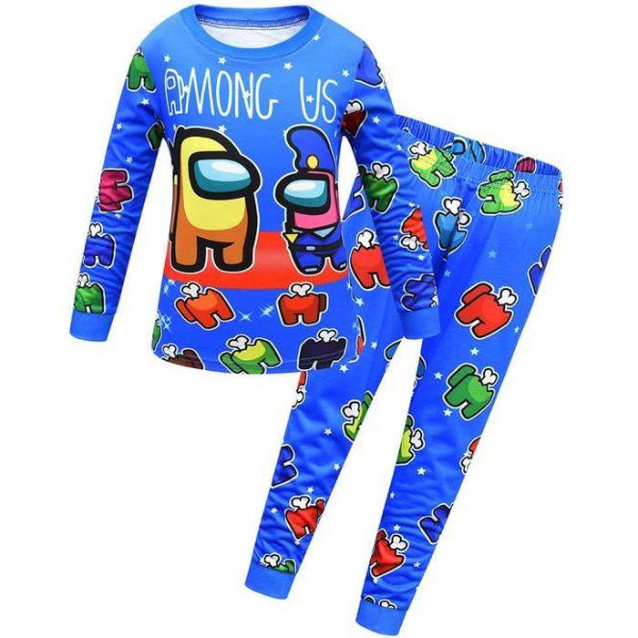 Among us Enfant Ensemble de pyjama - T-shirt à manches longues et Pantalon 1739