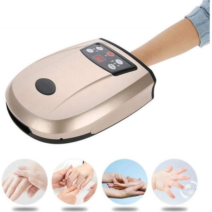 Appareil de massage des mains à la paume avec chaleur, chauffage électrique, massage par acupression à pression d'air pour soulager