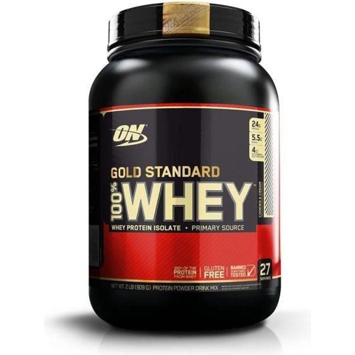 OPTIMUM NUTRITION 100% Whey Gold Standard Protéine Cookies n Cream 908g: Hygiène et Soins du corps