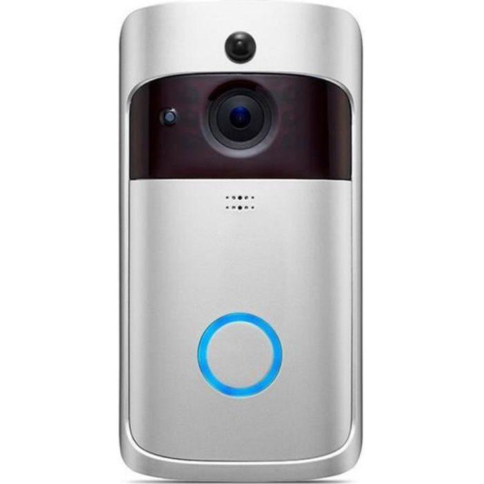 Smart Wireless Phone Door Bell Camera WiFi Smart Video Intercom Ring Doorbell argent