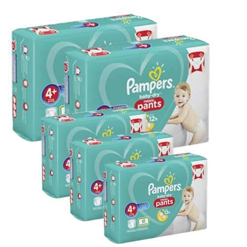 Pampers Taille 4+ - 280 couches bébé baby dry pants