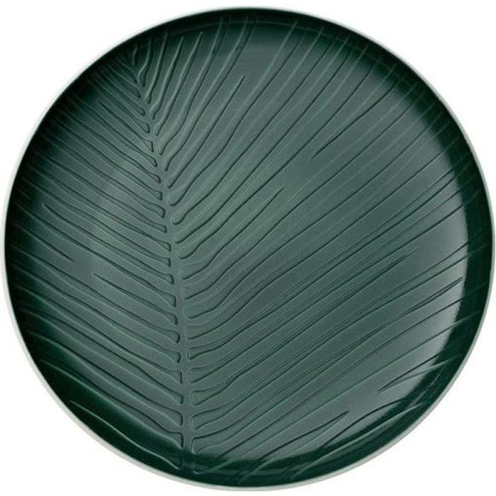 Villeroy & Boch it's my match Assiette -Leaf-, 24 cm, Porcelaine Premium, Vert