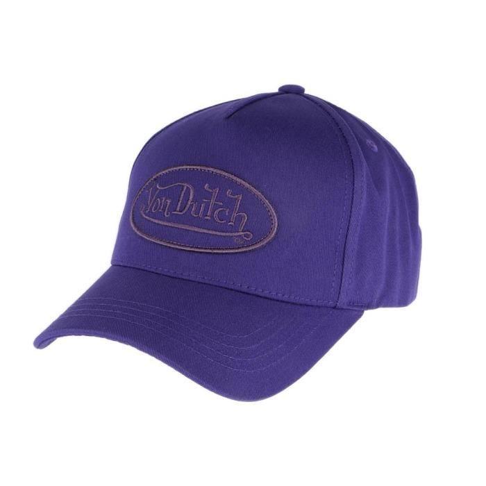 Casquette baseball violette collection Von Dutch reference RB, casquette curve fashion au coloris original avec patch Von Dutch